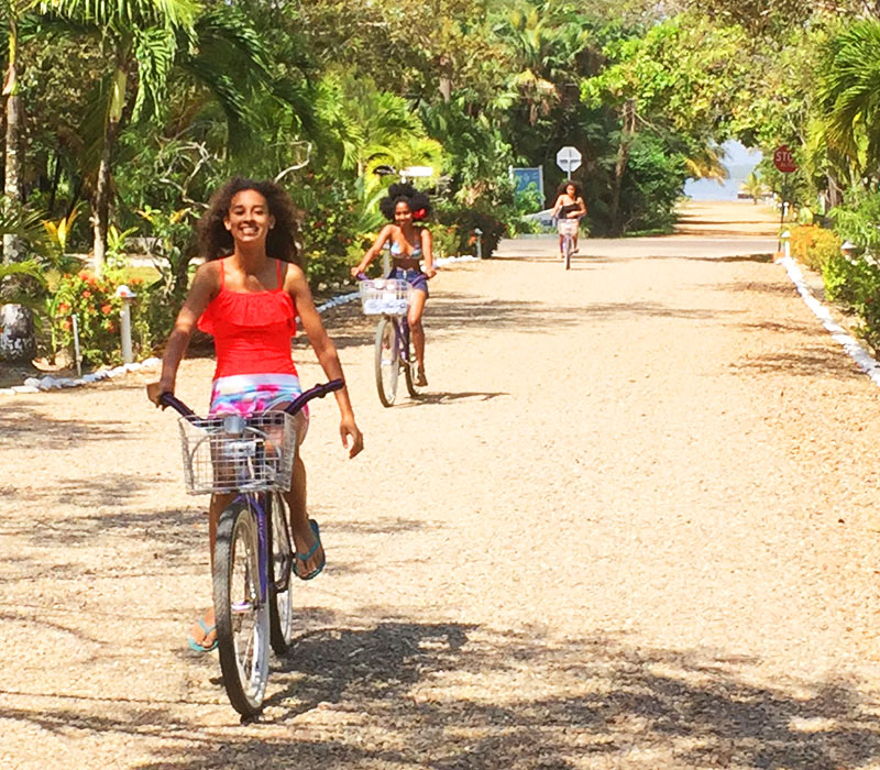 Placencia Belize resort amenities bikes
